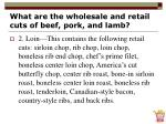 what are the wholesale and retail cuts of beef pork and lamb14