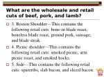 what are the wholesale and retail cuts of beef pork and lamb15