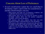 concerns about loss of preferences5