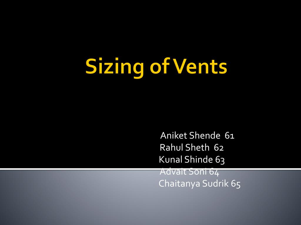 sizing of vents l.