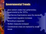 governmental trends