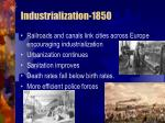 industrialization 1850
