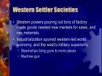 western settler societies