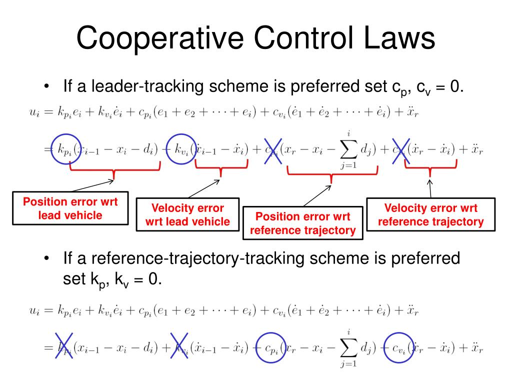 Cooperative Control Laws