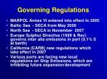 governing regulations