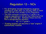 regulation 13 nox