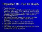 regulation 18 fuel oil quality35