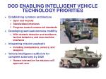 dod enabling intelligent vehicle technology priorities