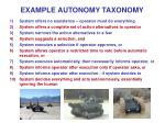 example autonomy taxonomy