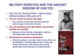 military robotics and the ancient wisdom of sun tzu