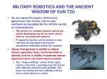 military robotics and the ancient wisdom of sun tzu13