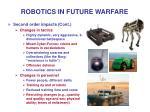 robotics in future warfare21