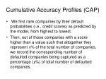 cumulative accuracy profiles cap