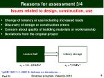 reasons for assessment 3 4