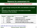 reasons for assessment 4 4
