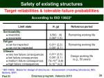 safety of existing structures