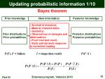 updating probabilistic information 1 10