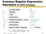 common regular expression operators in xfst notation13