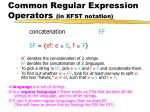 common regular expression operators in xfst notation4