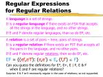 regular expressions for regular relations