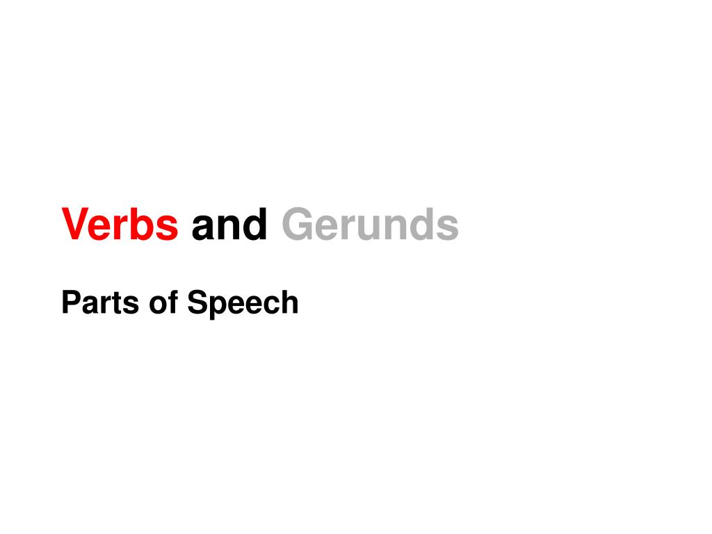 verbs and gerunds l.