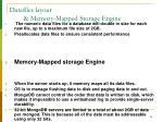 datafiles layout memory mapped storage engine