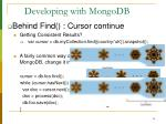 developing with mongodb14