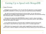 getting up to speed with mongodb5