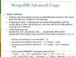mongodb advanced usage21