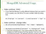 mongodb advanced usage23