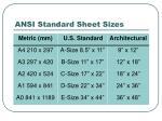 ansi standard sheet sizes