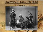 daimyo samurai lead revolt