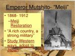 emperor mutshito meiji