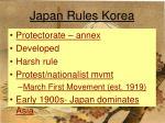 japan rules korea