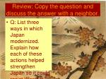 review copy the question and discuss the answer with a neighbor25
