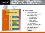 anatomy of a 100gbps solution basic line card architecture 1