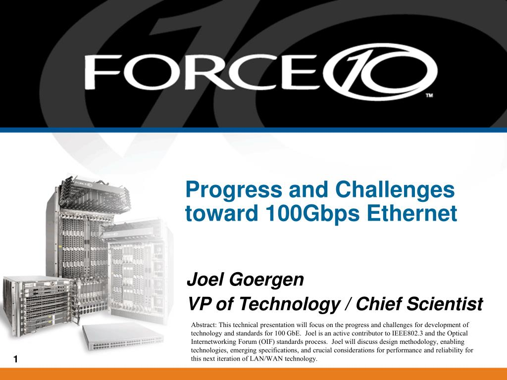 progress and challenges toward 100gbps ethernet l.