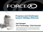 progress and challenges toward 100gbps ethernet