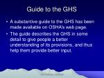 guide to the ghs