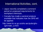 international activities cont10