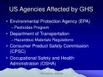 us agencies affected by ghs