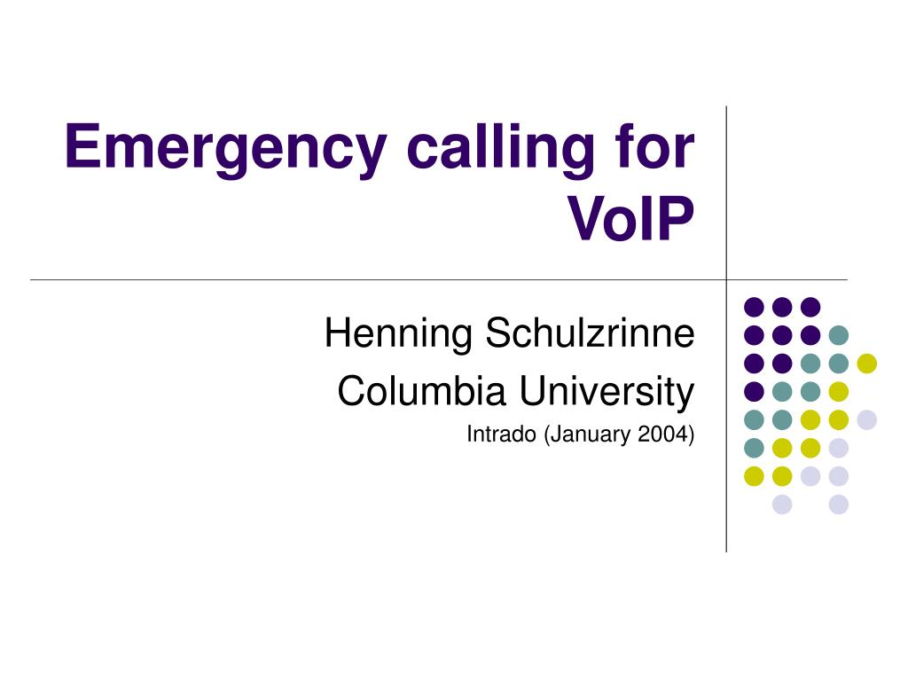emergency calling for voip l.