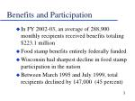 benefits and participation