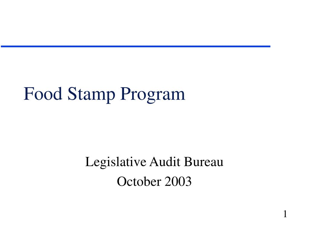 food stamp program l.