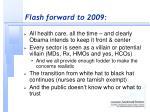 flash forward to 2009