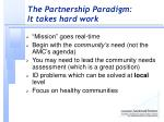 the partnership paradigm it takes hard work