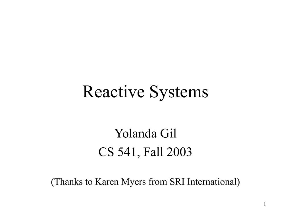 reactive systems l.