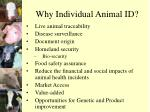 why individual animal id