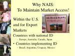 why nais to maintain market access