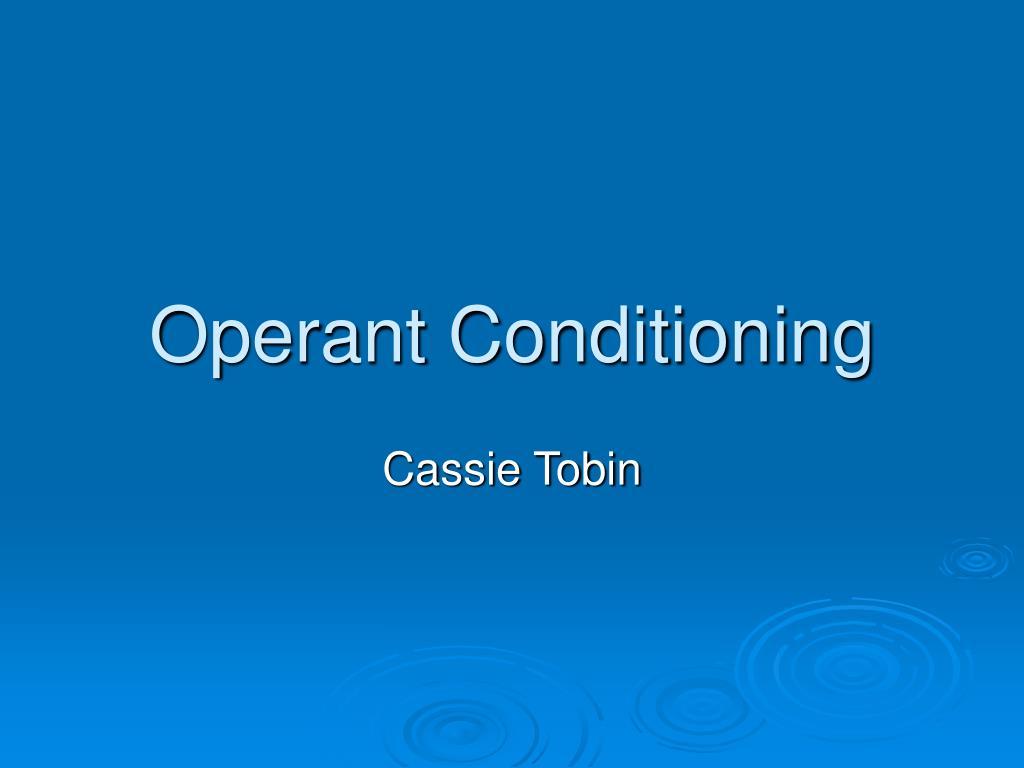 operant conditioning l.